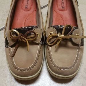 Sperry Top-Sider Women's Lace Up Boat Shoes Brown